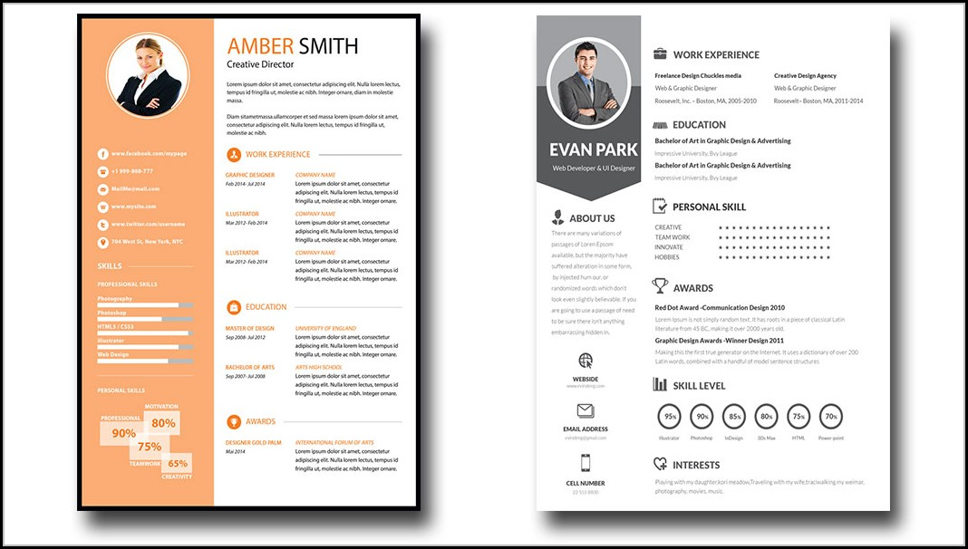 Free Editable Resume Templates