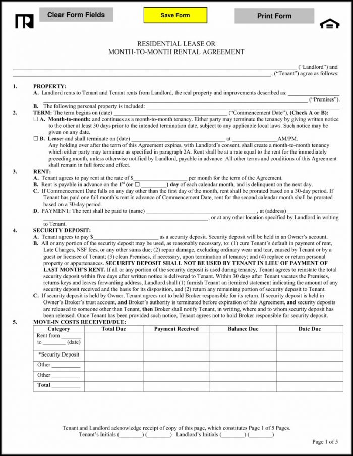 Free Iowa Lease Agreement Template
