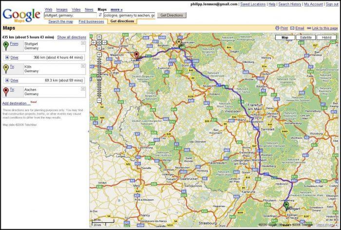 Free Maps And Driving Directions