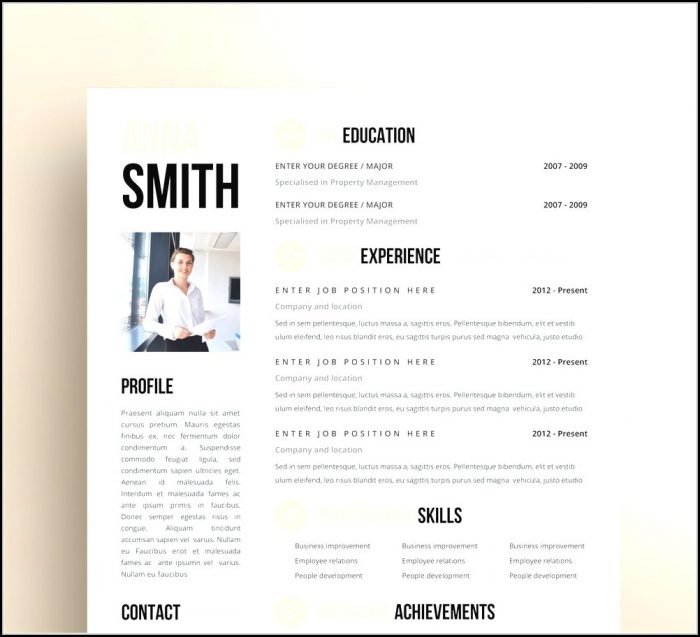 Free Modern Resume Templates Pages