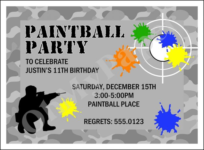 Free Paintball Invitation Templates