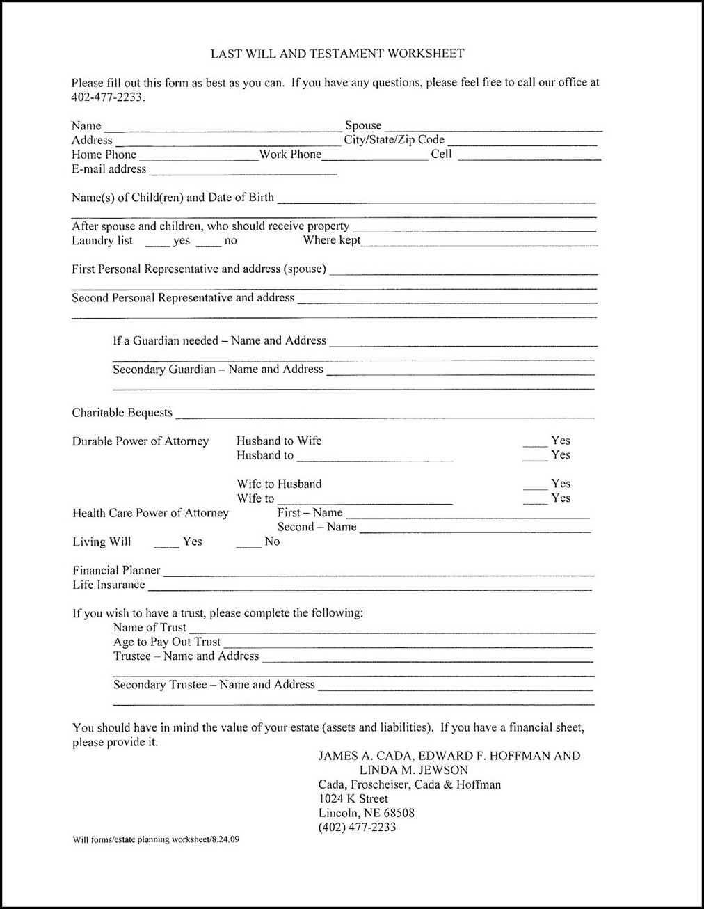 Free Printable Last Will And Testament Forms Ontario Form Resume