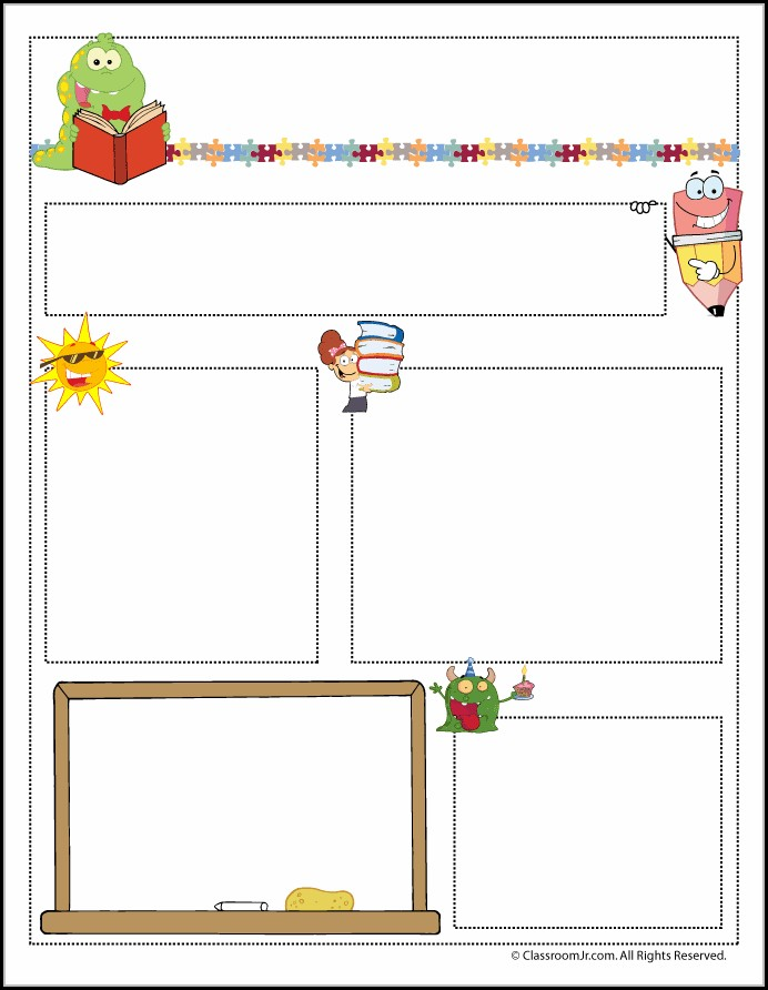 Free Printable Newsletter Templates For Teachers