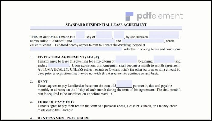Free Residential Lease Agreement Template (105)