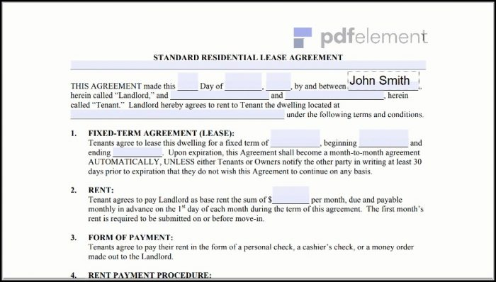 Free Residential Lease Agreement Template (213)