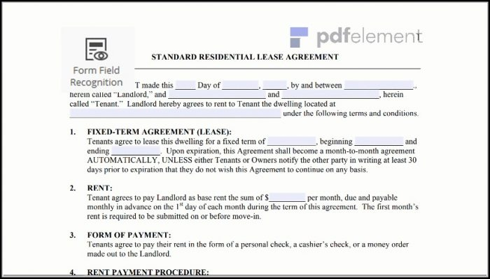 Free Residential Lease Agreement Template (8)