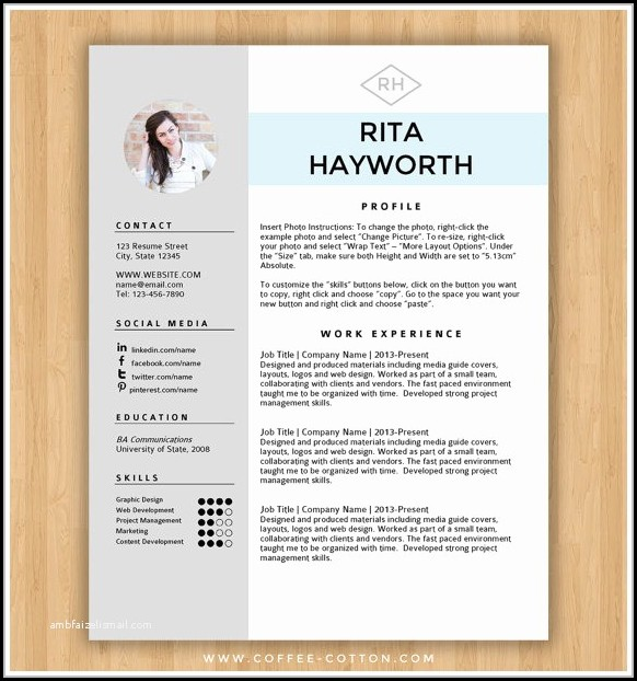 Free Resume Layout Download