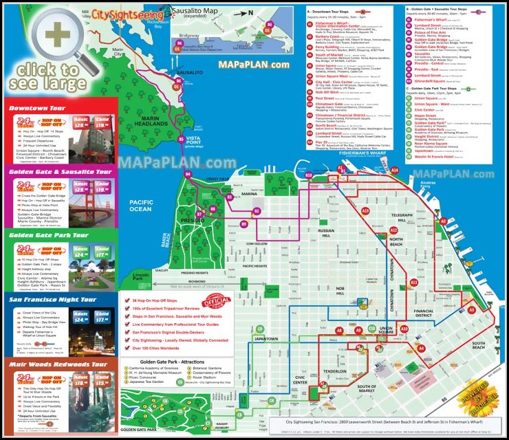 Hop On Hop Off San Francisco Map - Map : Resume Examples #aL71xpd1MX