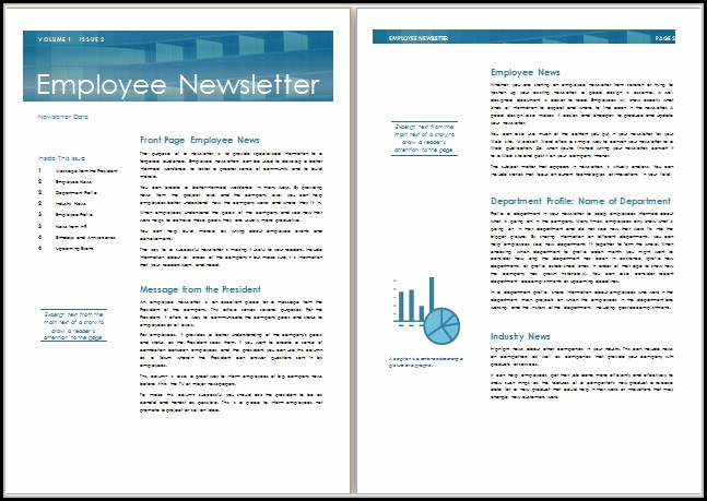 Internal Company Newsletter Templates