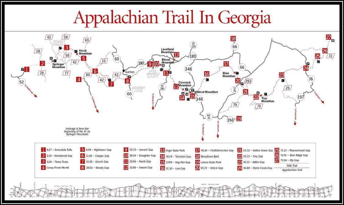 Map Of Appalachian Trail In Georgia - Map : Resume Examples #GxKkVmx17A