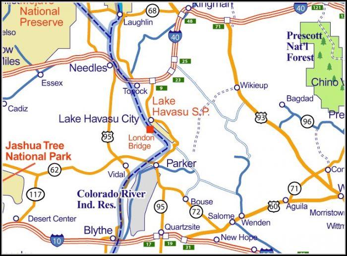 Map Of Lake Havasu City Arizona