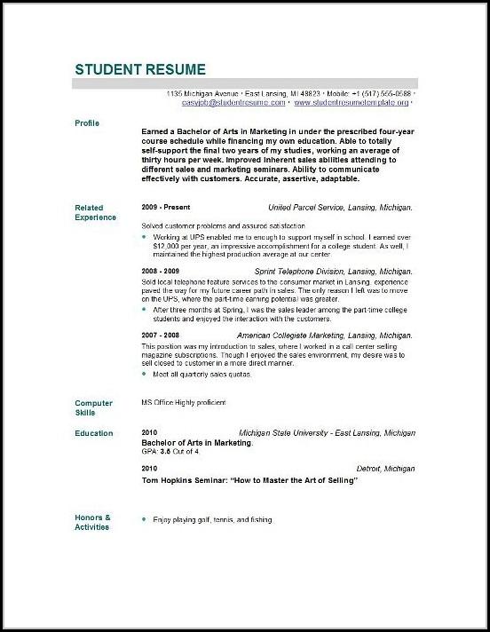 New Grad Nursing Resume Template