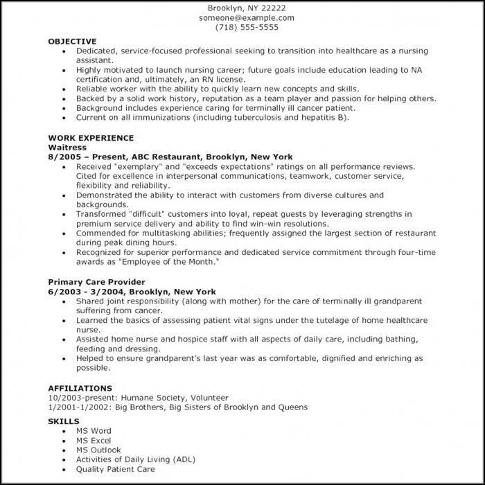 Nursing Resume Templates Word