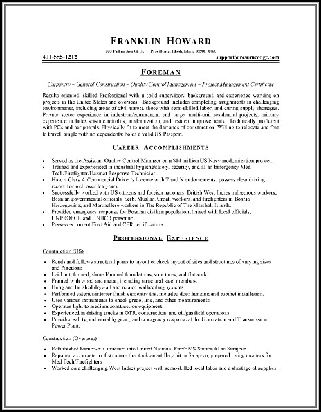Online Resume Maker For Job