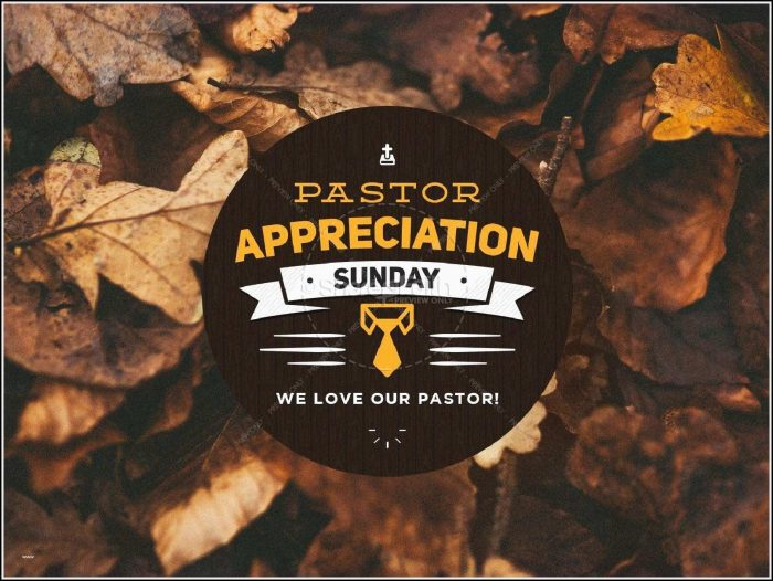 Pastor Appreciation Day Program Template