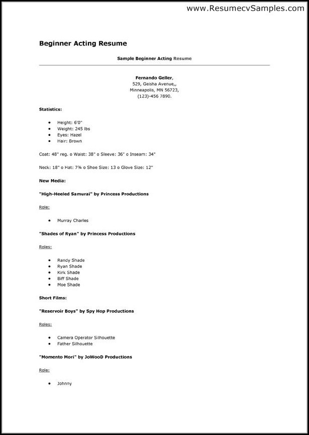 Printable Beginner Resume Templates