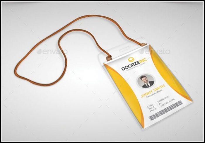 Pvc Id Card Design Template