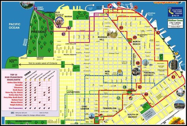 San Francisco Hop On Hop Off Tour Map - Map : Resume Examples ...