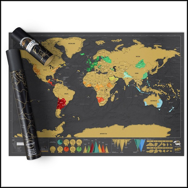 Scratch Map Deluxe Australia