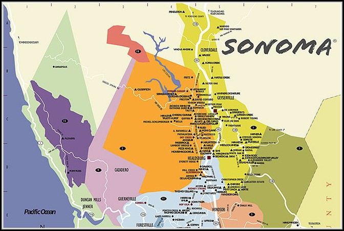 Sonoma County Winery Map