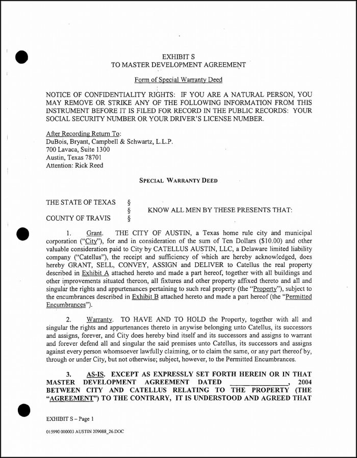 Texas Warranty Deed Form Download