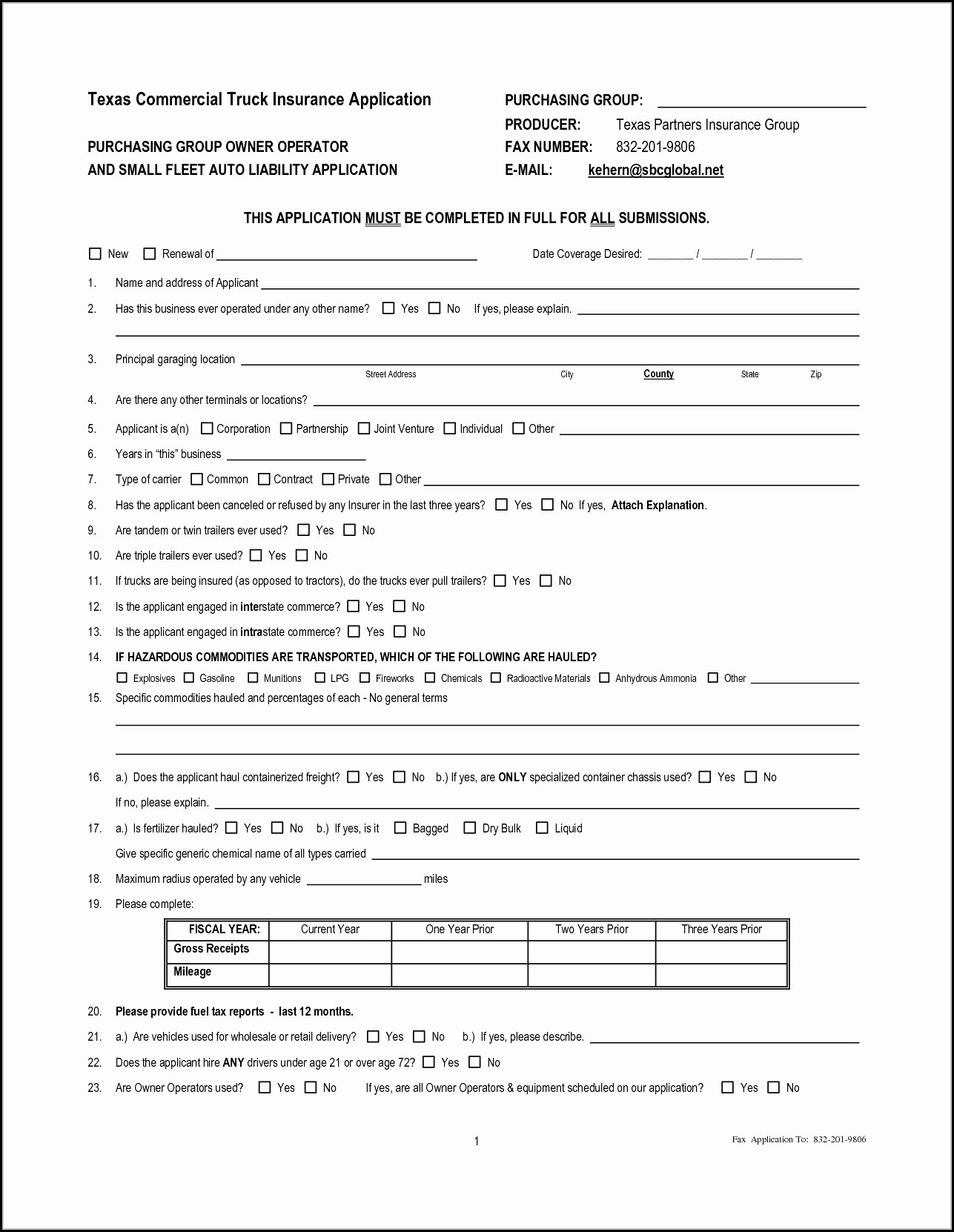 Truck Lease Agreement Template