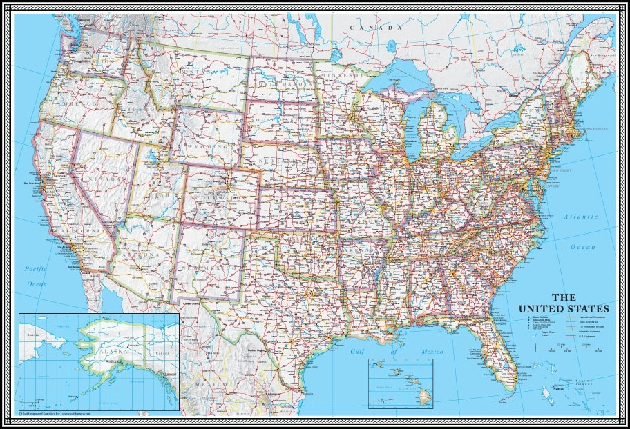 United States Wall Maps For Sale - Map : Resume Examples ...