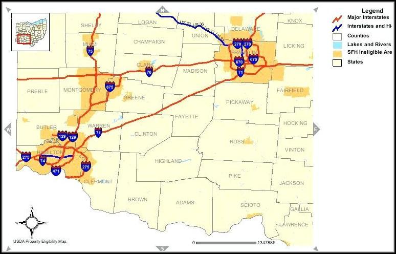 usda home loan map ohio