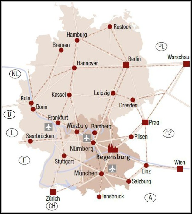 Viking Danube River Cruise Map