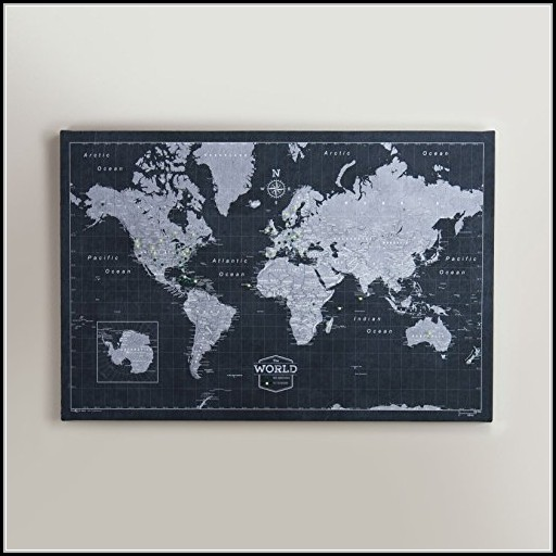 World Travel Map Pin Board