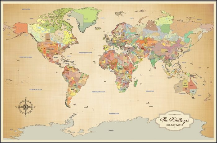 World Travel Map Pinboard Online