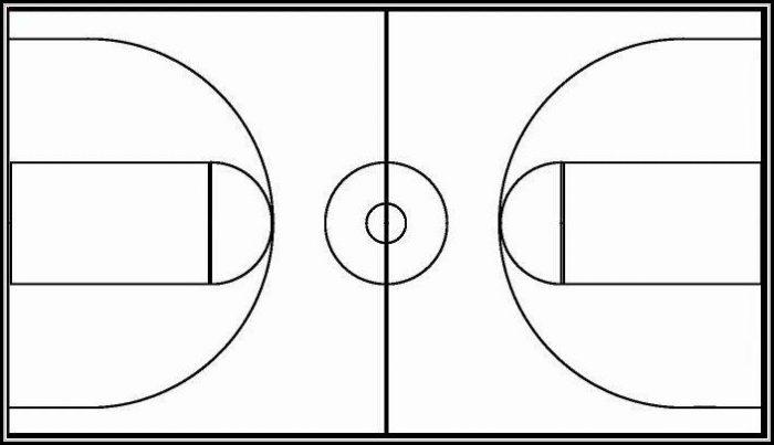 Basketball Court Design Template