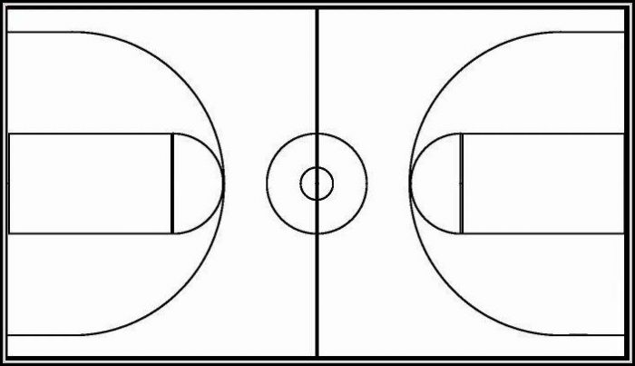 Basketball Court Template Printable