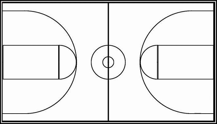 image about Printable Basketball Court known as Printable Picture Of Basketball Courtroom