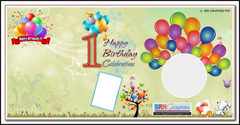 Birthday Banner Template Photoshop