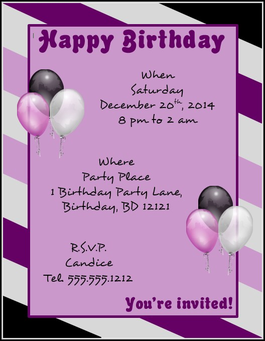 Birthday Flyer Template Word
