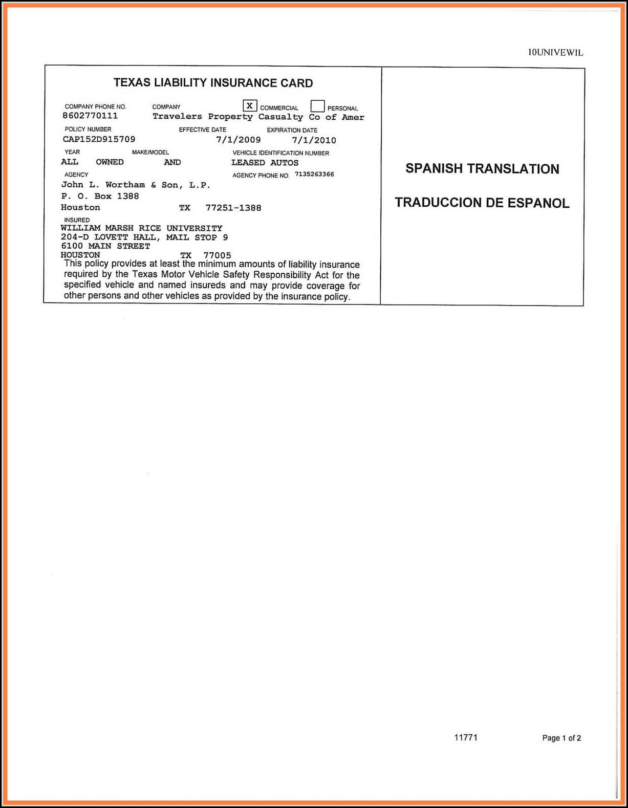 Insurance Card Template | Blank Auto Insurance Card Template Template 1 Resume Examples