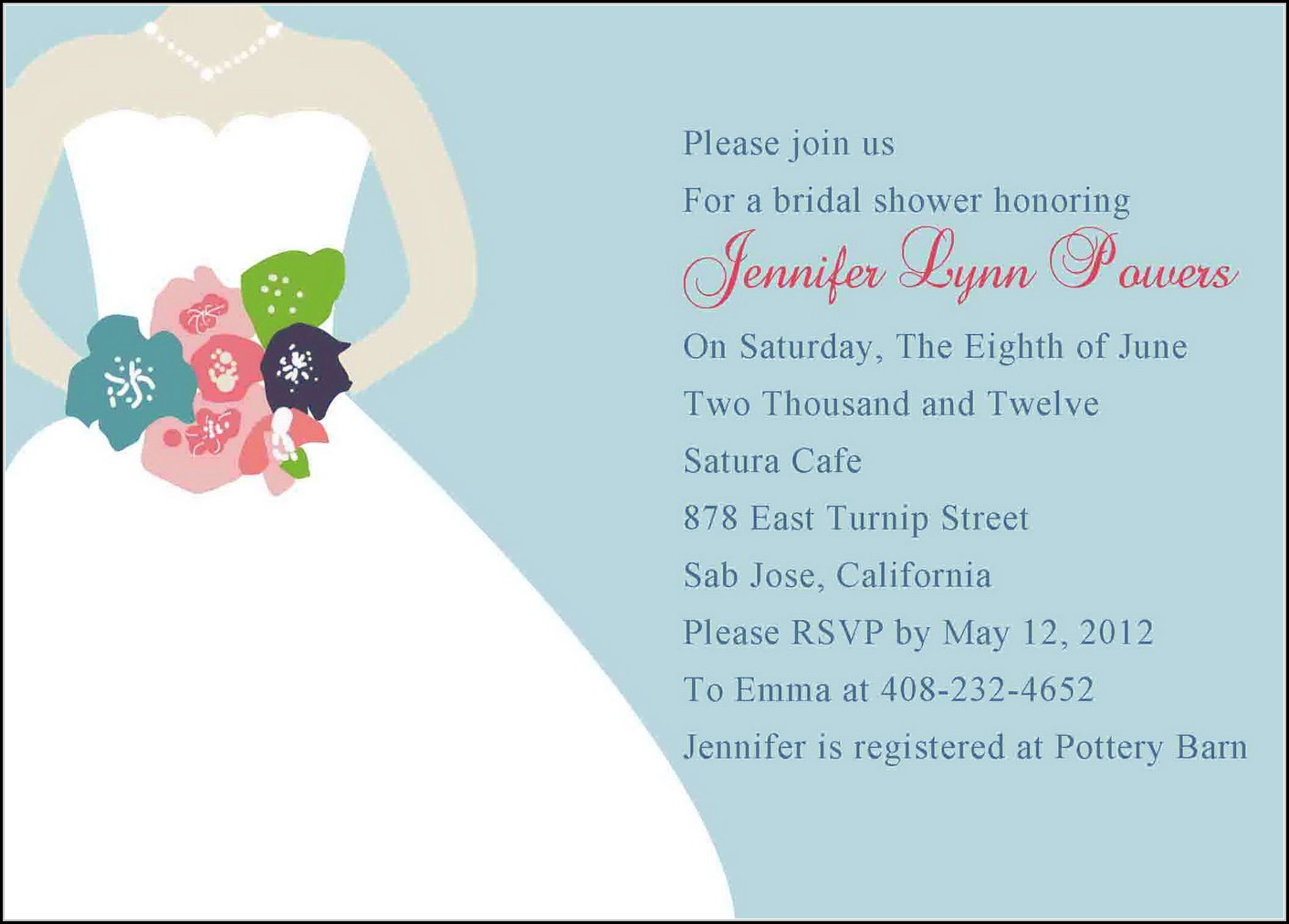 Blank Bridal Shower Invitation Template