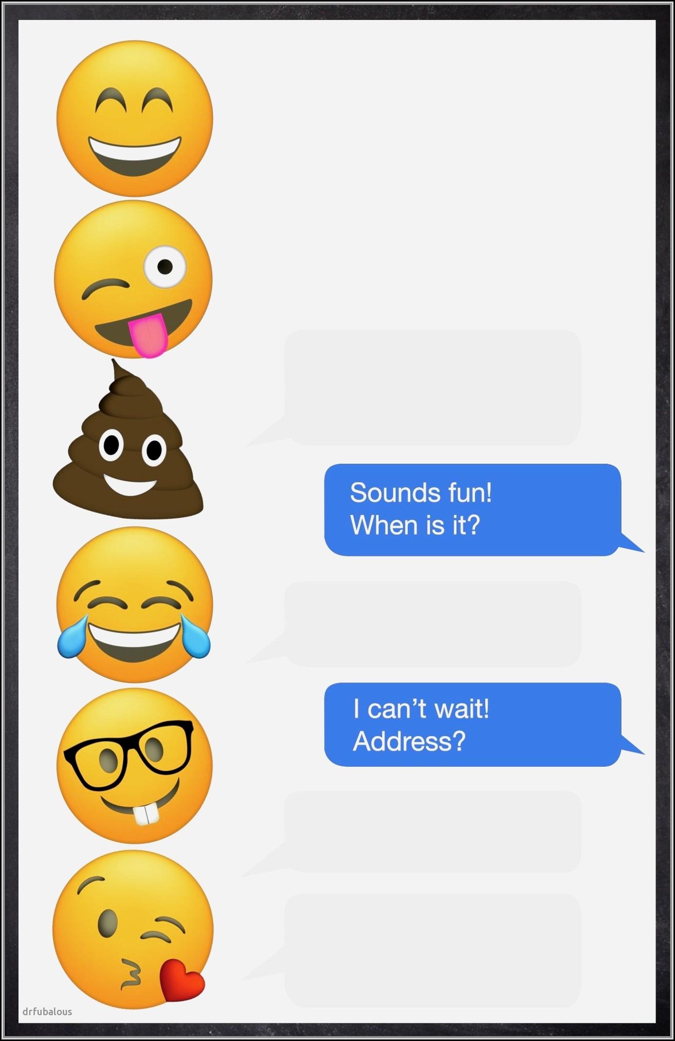 Blank Emoji Invitation Template