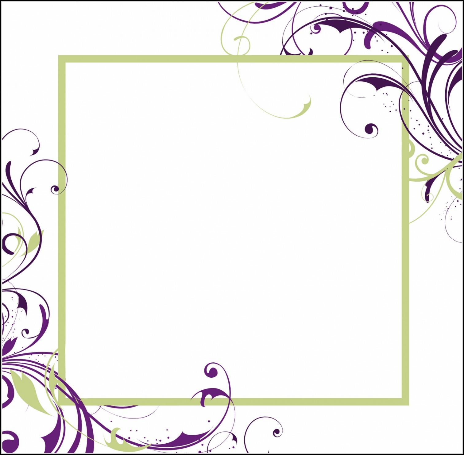 Blank Invitation Templates Free Printable