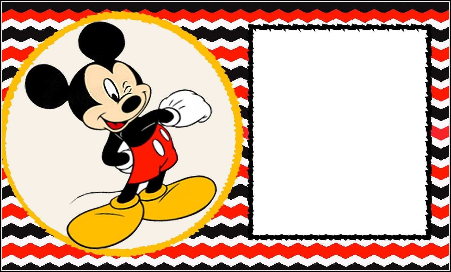Blank Mickey Mouse Invitation Template