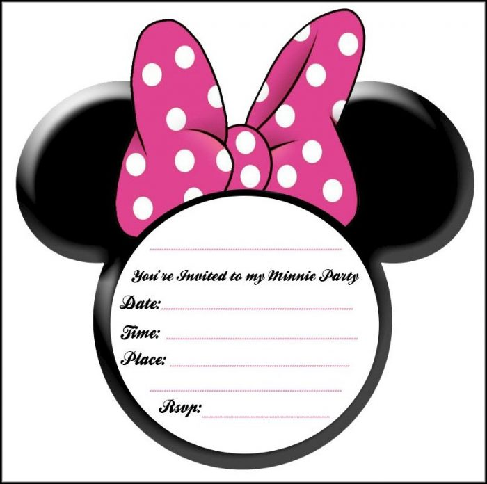 Blank Minnie Mouse Invitation Template