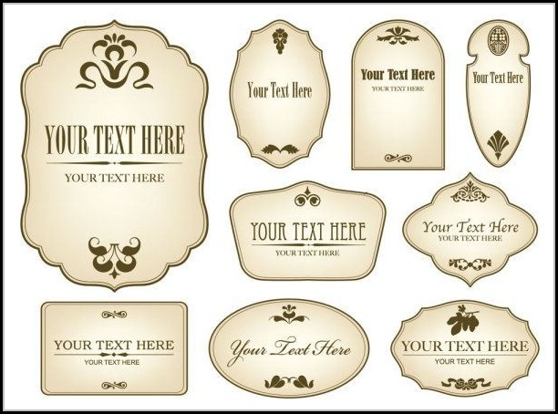 Bottle Label Templates