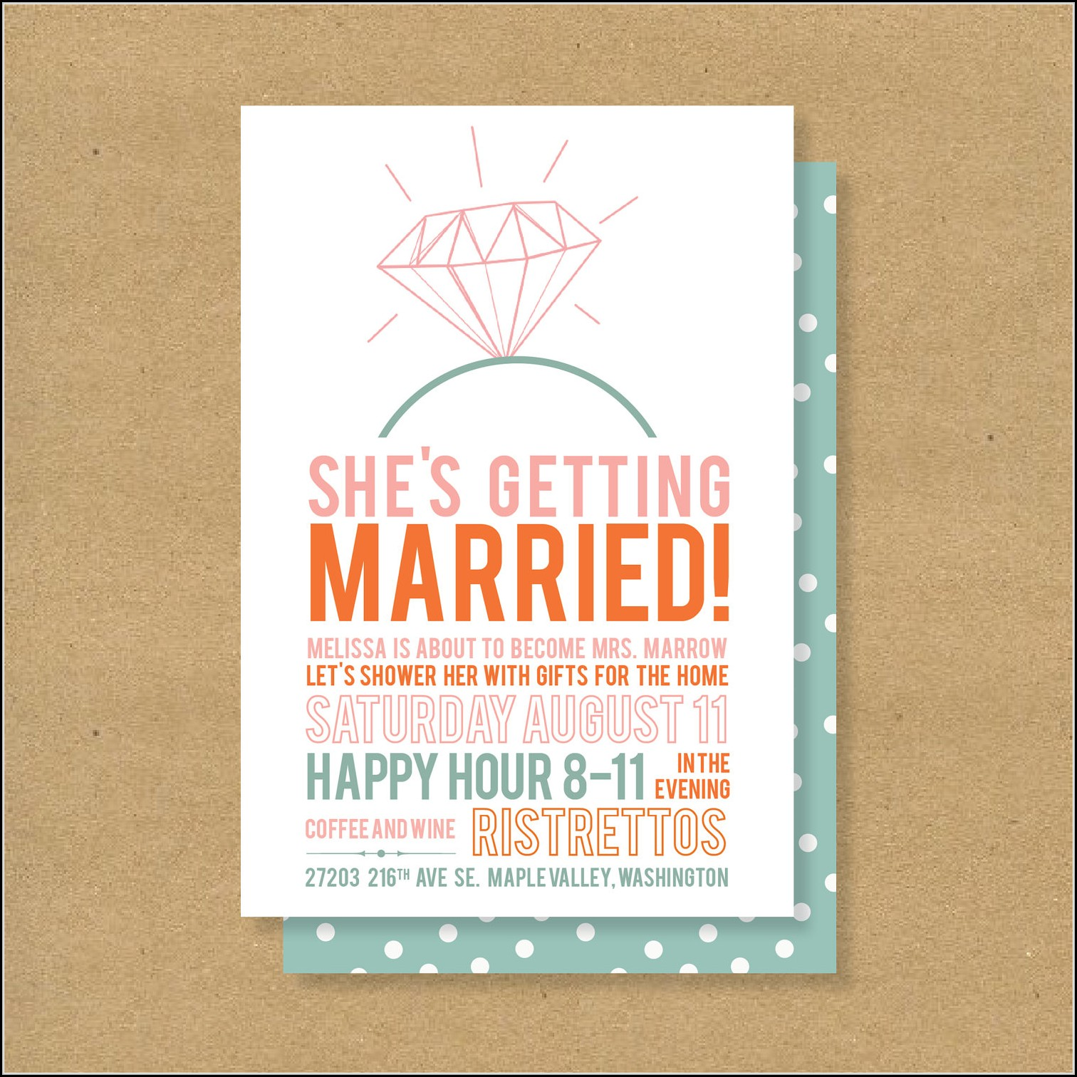 Bridal Shower Invitation Template Free Printable