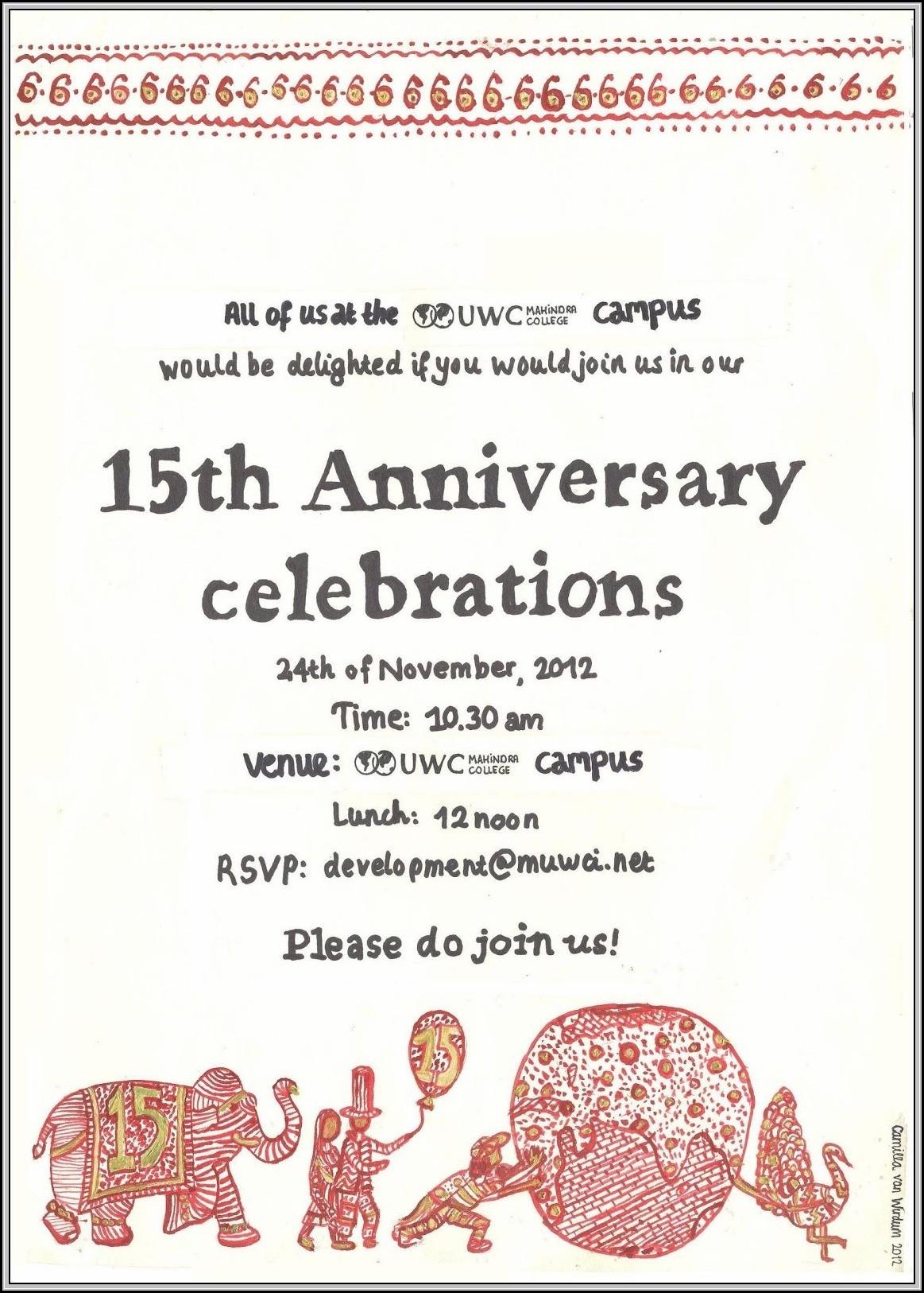 Church Anniversary Invitation Template Template 1 Resume