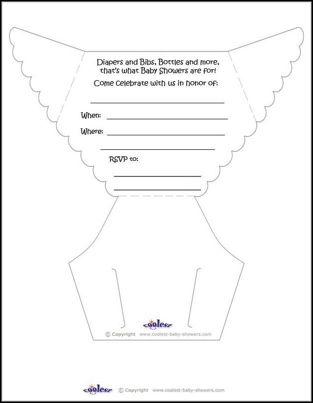Diaper Invitation Template Printable