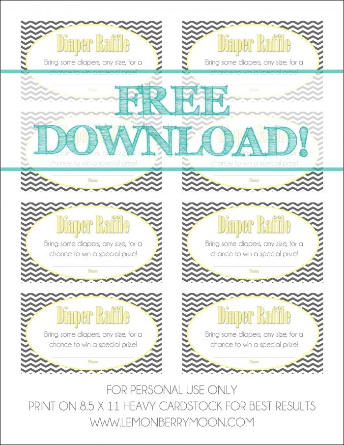 Diaper Raffle Template Free