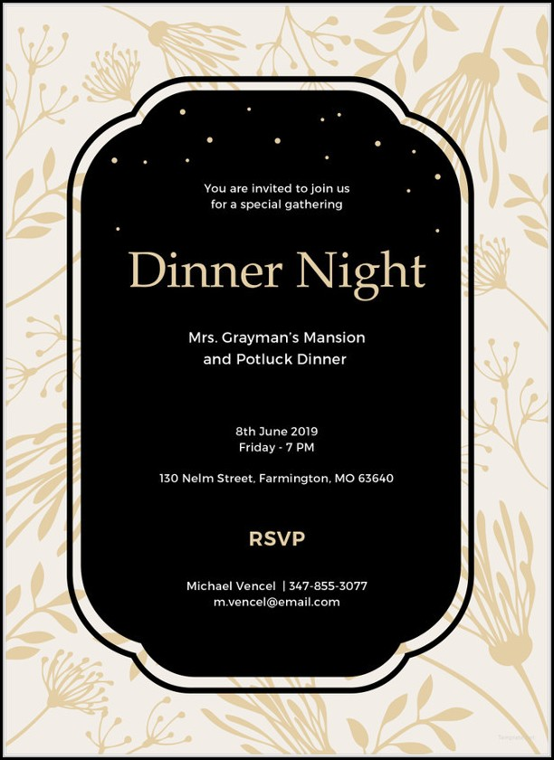 Dinner Invitation Template Ppt