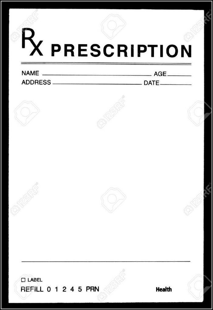 Doctor Prescription Pad Template
