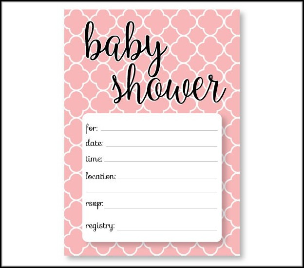 Downloadable Free Baby Shower Invitations Templates Pdf